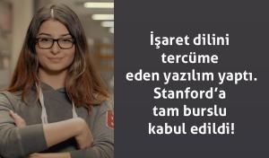 Liseli Neval Çam İşaret Dilini Tercüme Eden Yazılım Yaptı