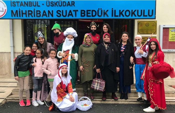 Masal Kahramanları Mihriban Suat Bedük İlkokulu'nda
