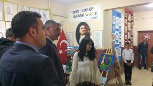 1 Ekim Ortaokulu TÜBİTAK Sergisi Açıldı